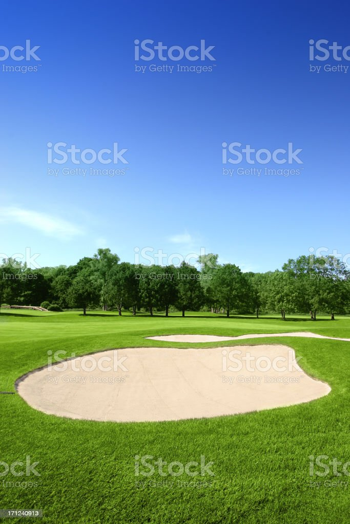 Golf Course - Sand Trap stock photo
