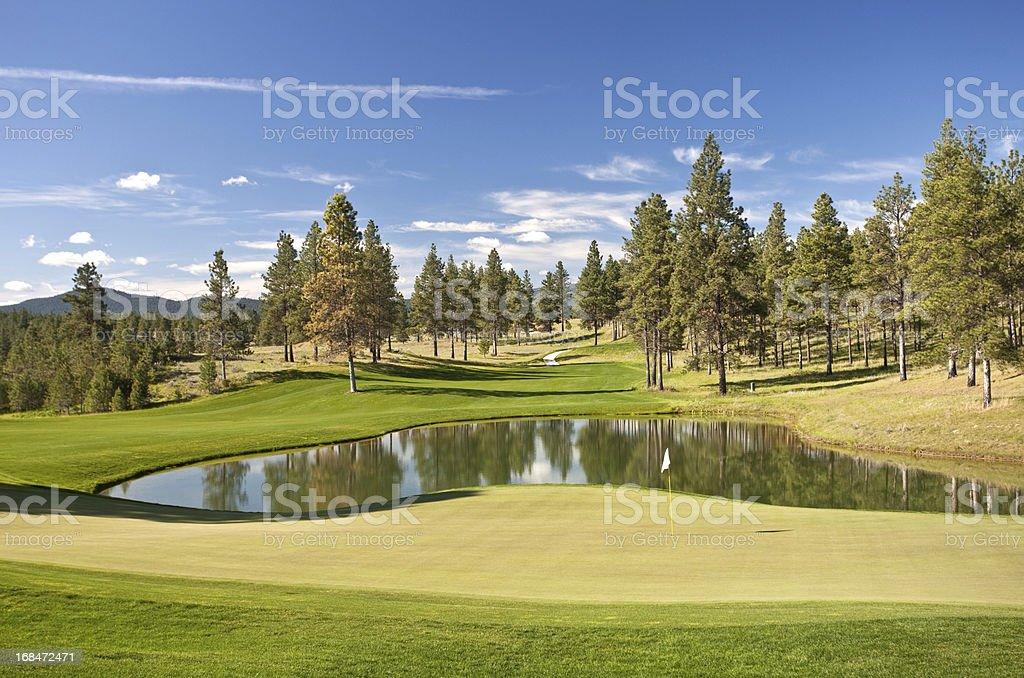 Golf Course Scenic stock photo