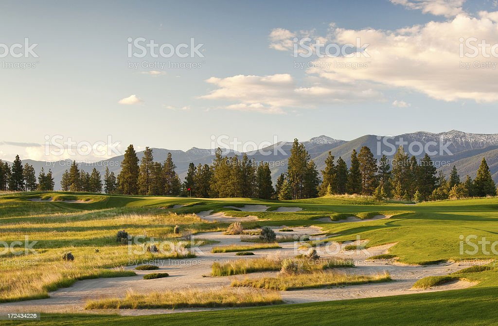 Golf Course Scenic stock photo