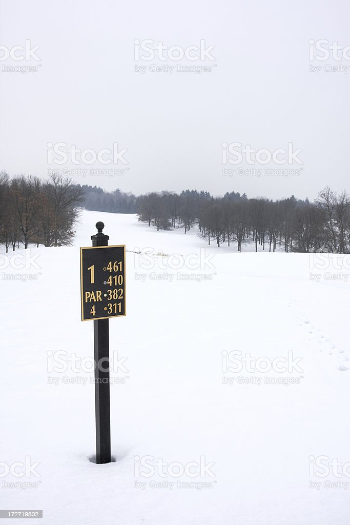 Golf Course Under Snow royalty-free stock photo