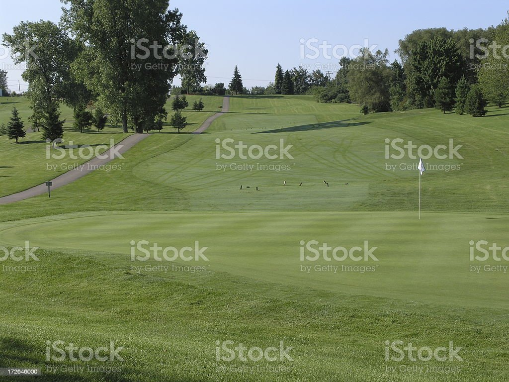 Golf course view stock photo