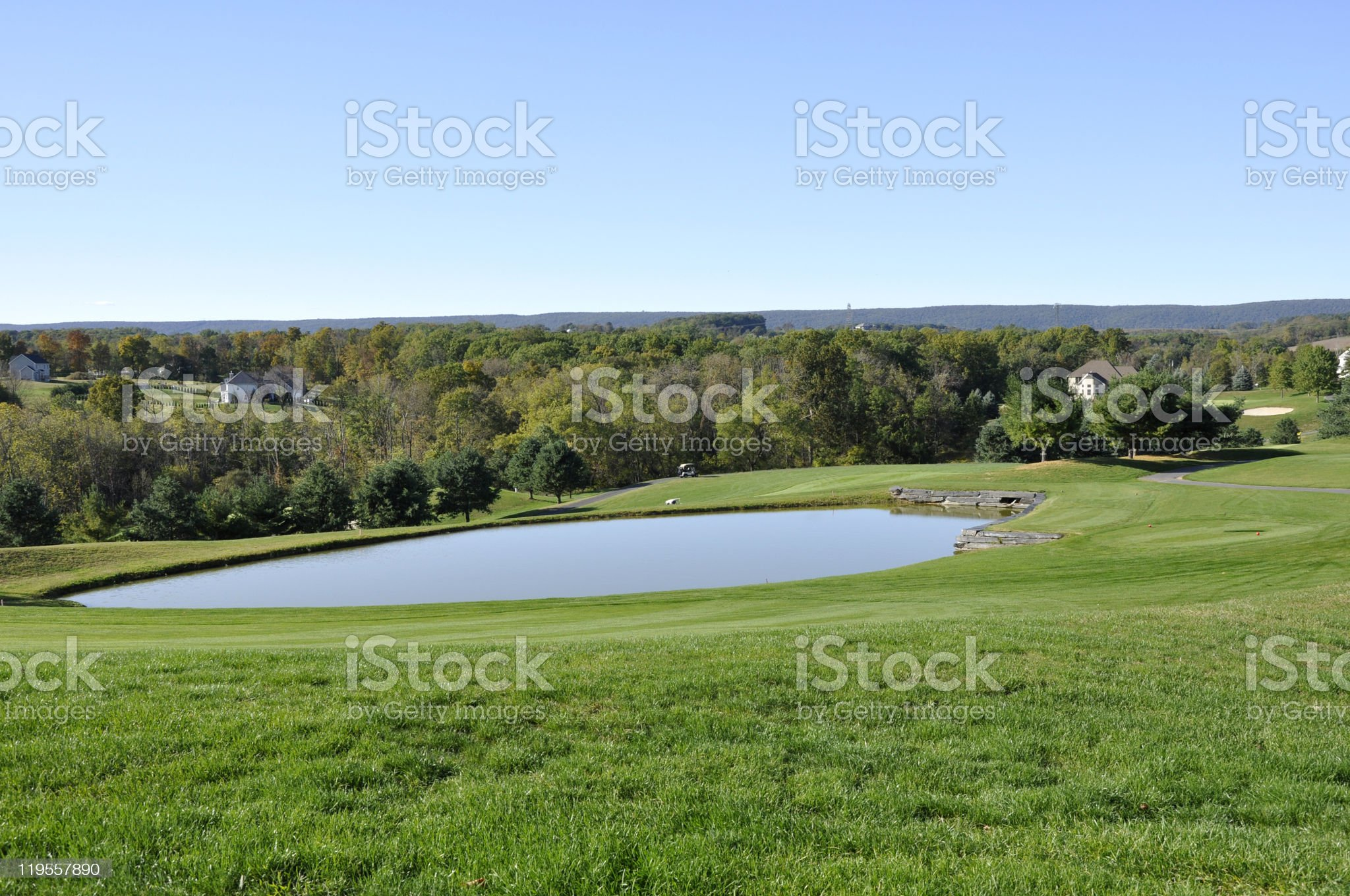 golf course water hazard royalty-free stock photo