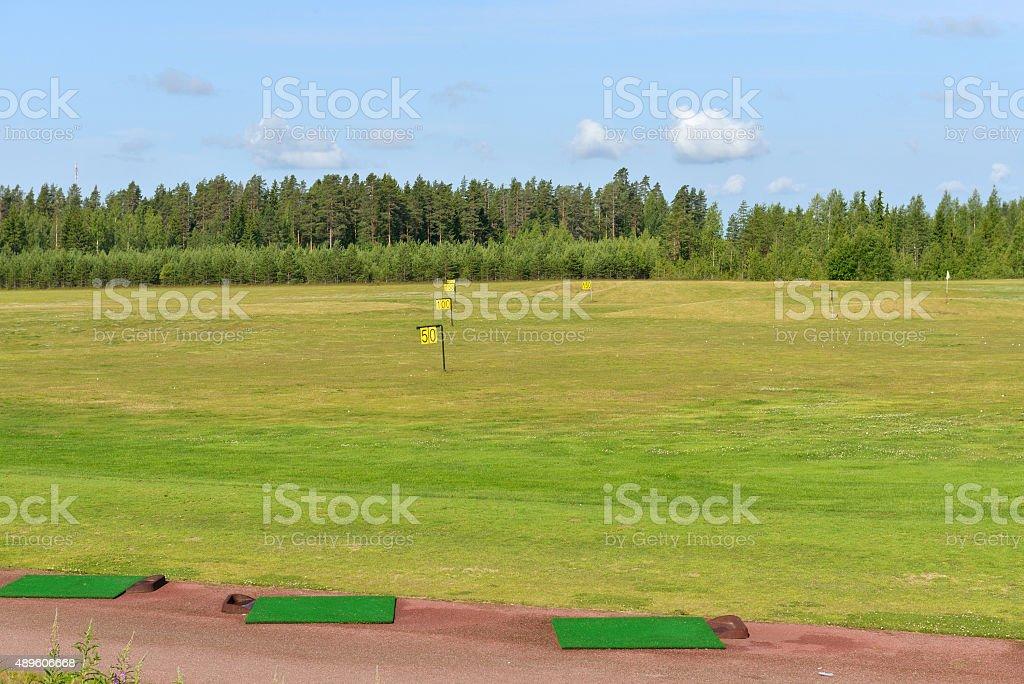 Golf courses stock photo
