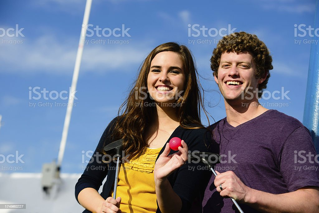Golf Date royalty-free stock photo