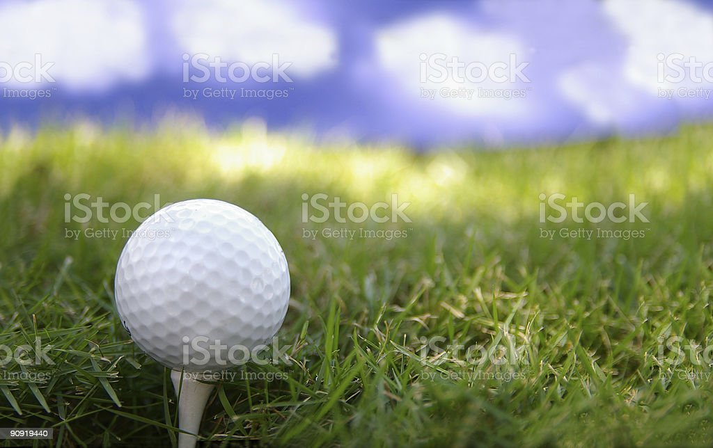 Golf day royalty-free stock photo