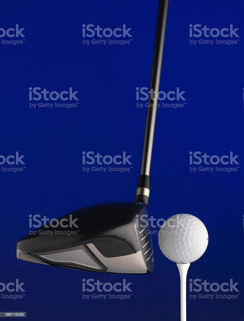 Golf Driver and ball royalty-free stock photo