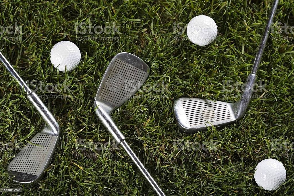 Golf, driver and ball royalty-free stock photo