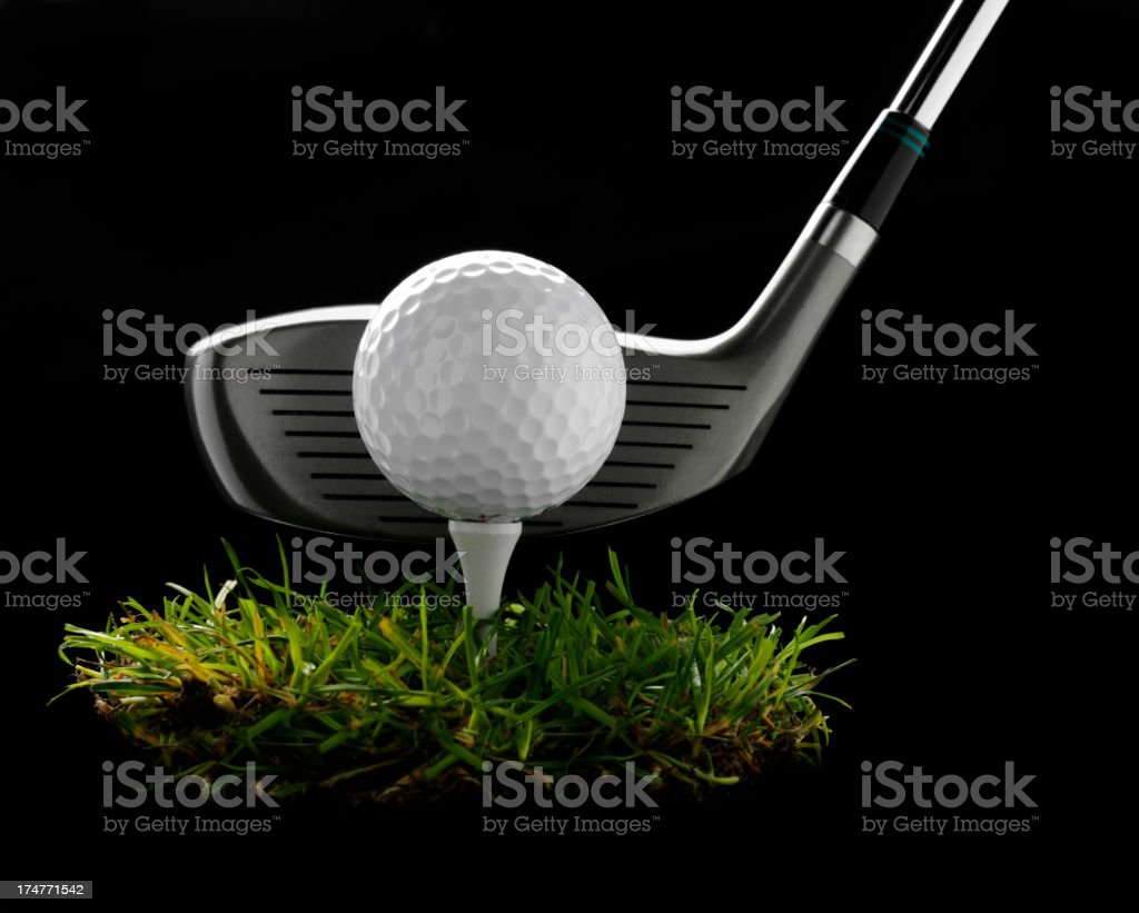 Golf Driver with Ball and Tee royalty-free stock photo