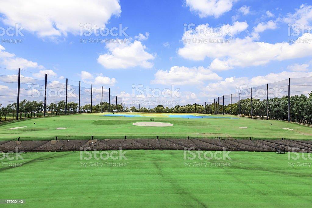 Golf Driving Range royalty-free stock photo