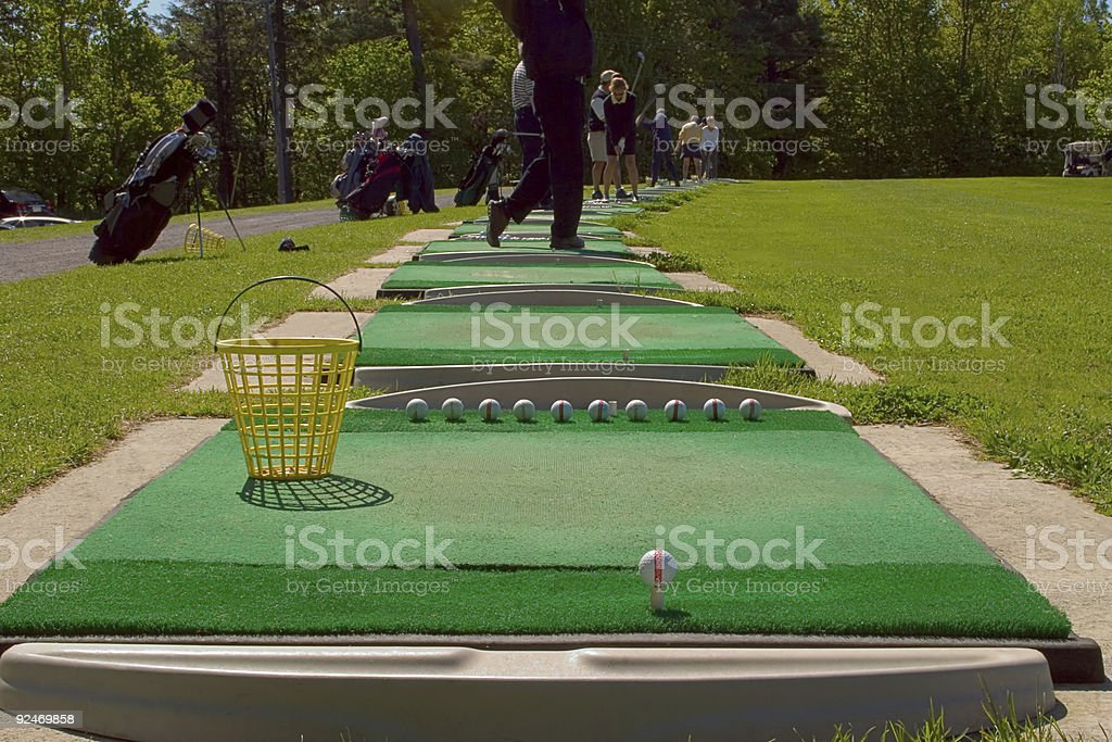 Golf, Driving range stock photo