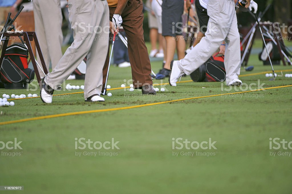 golf driving range practice royalty-free stock photo