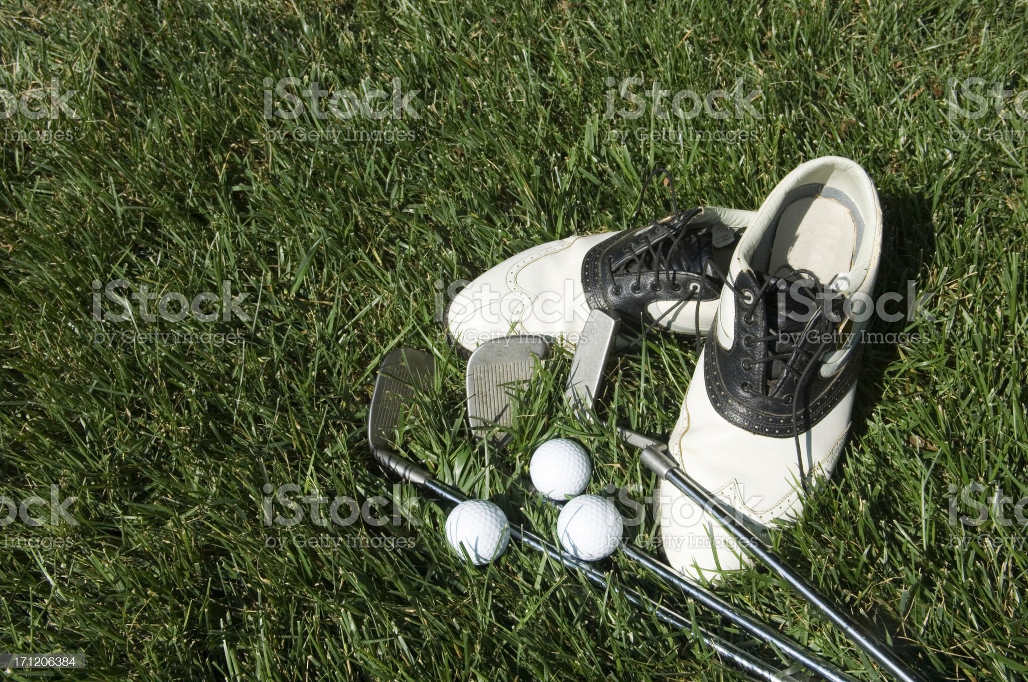 Golf Equipment At The Ready royalty-free stock photo