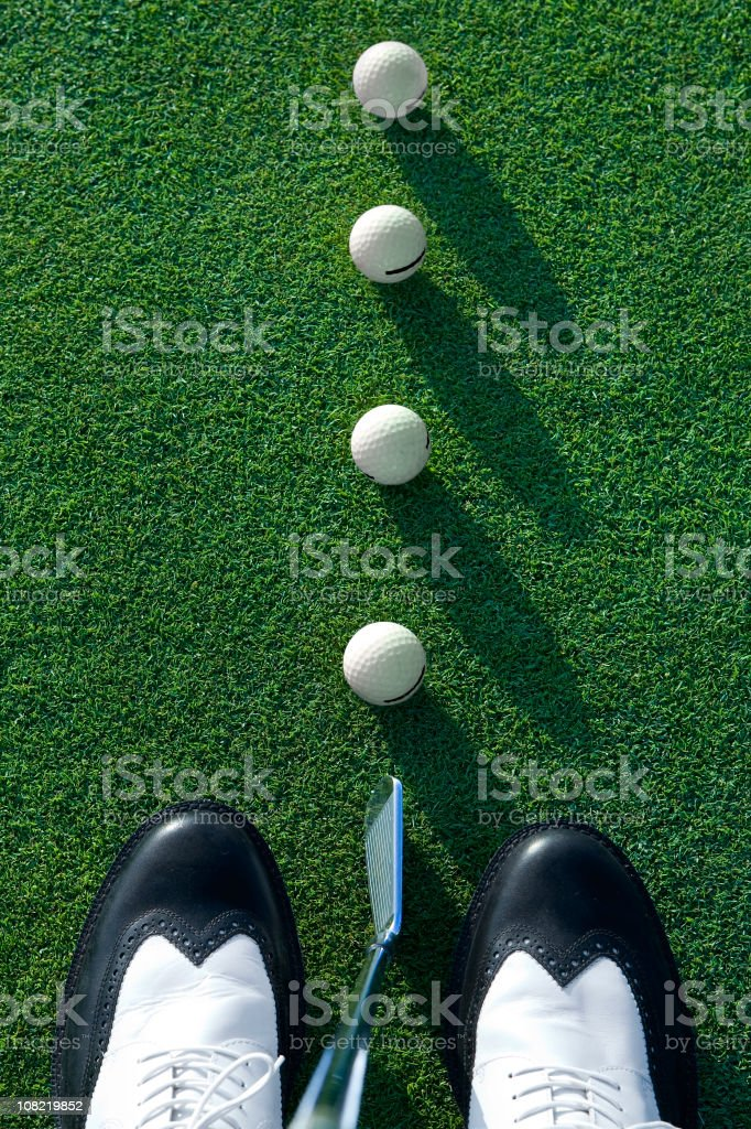 golf equipment stock photo