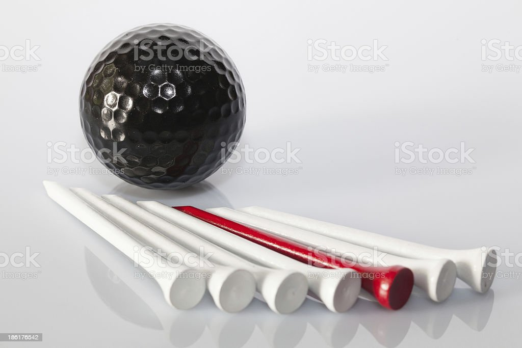 Golf equipments on the table royalty-free stock photo