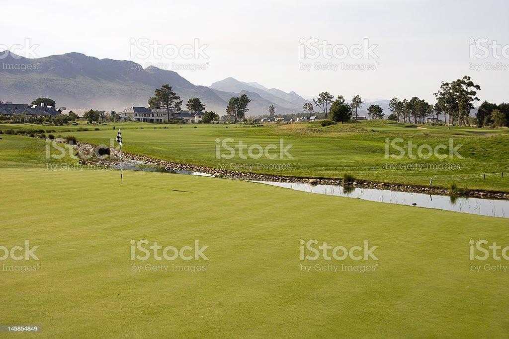 Golf finca sala de estar foto de stock libre de derechos