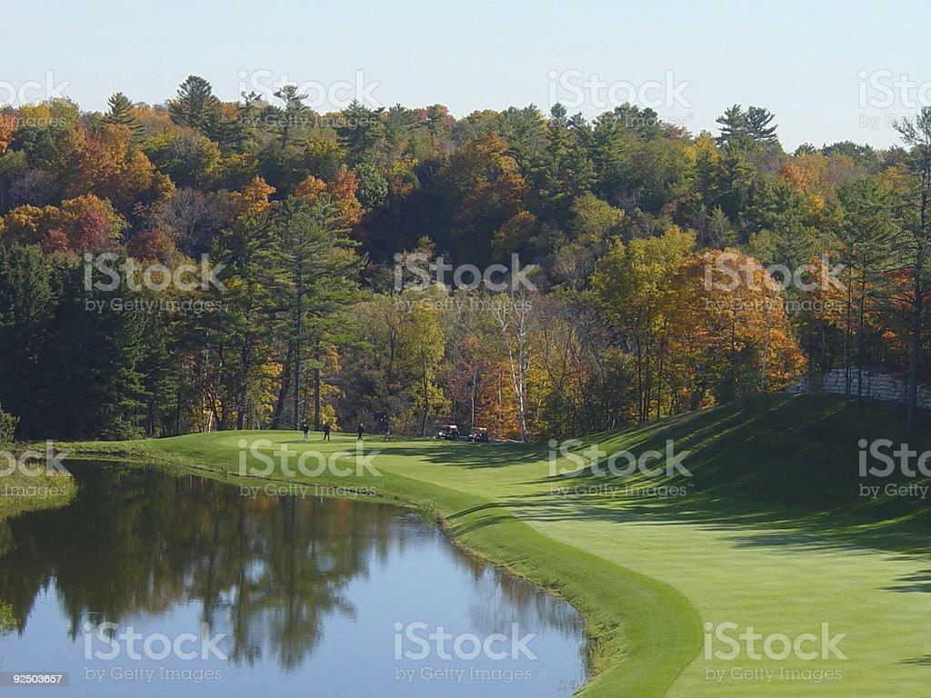 Golf Fairway stock photo