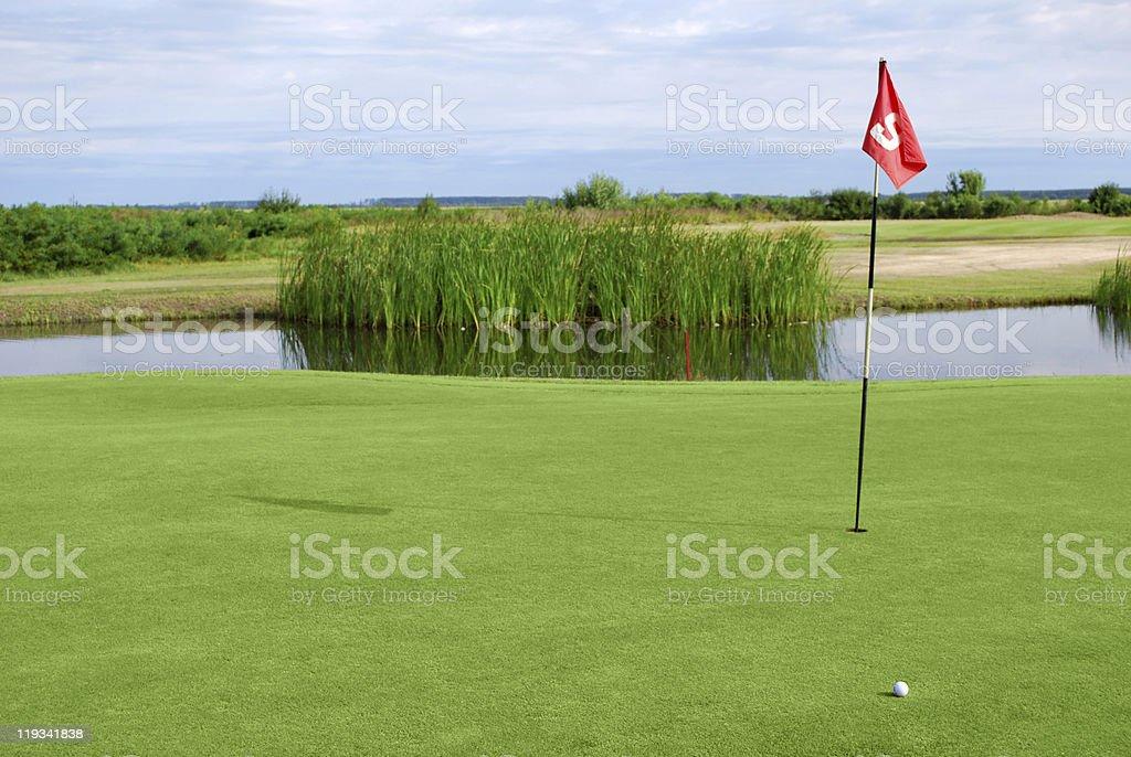 golf field royalty-free stock photo