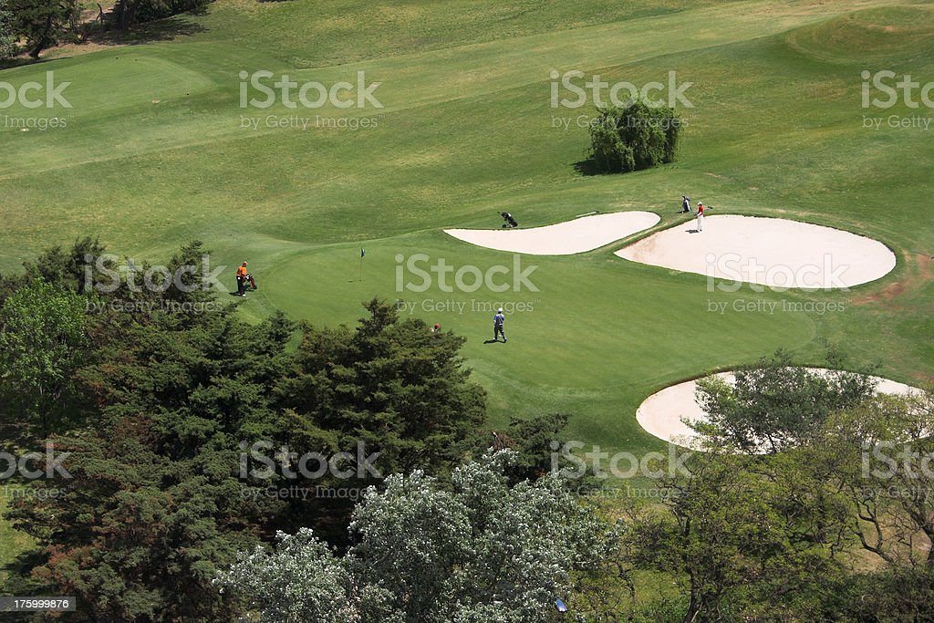 Golf field royalty-free stock photo