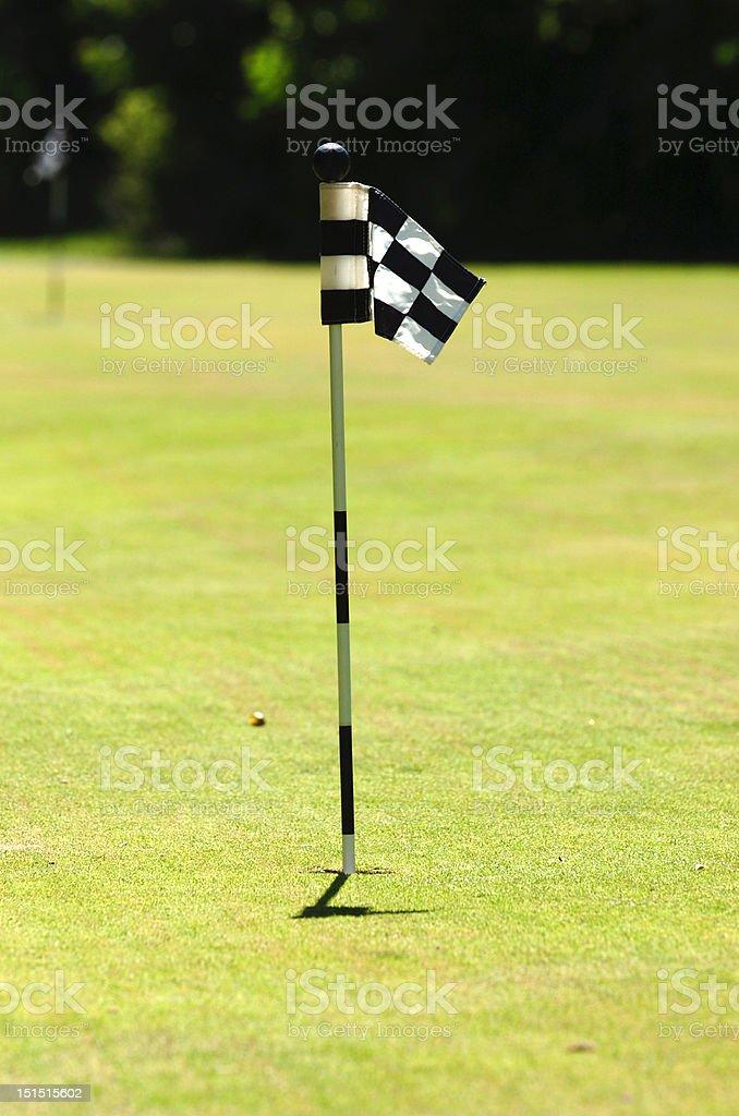 Golf flag on court royalty-free stock photo