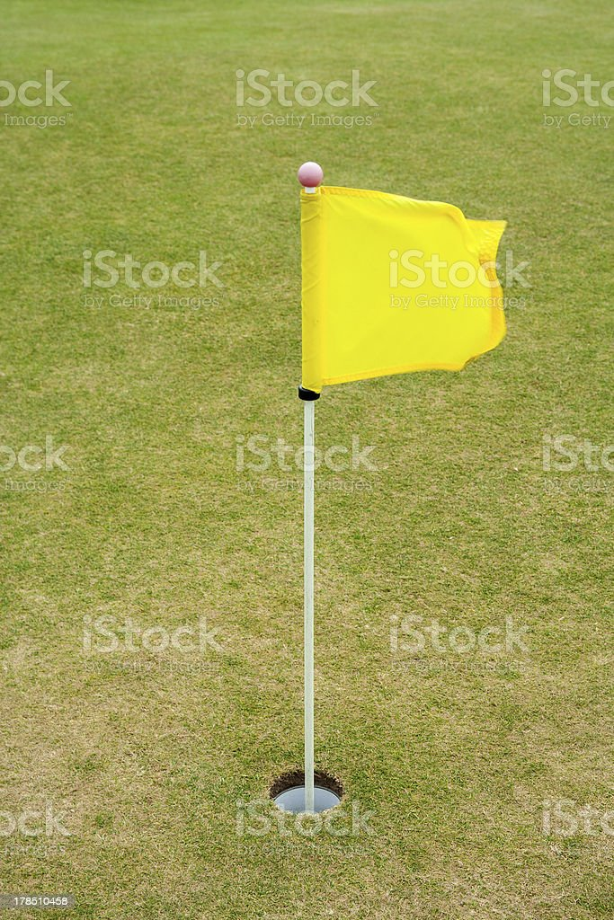 Golf Flag, St Andrews Old course royalty-free stock photo