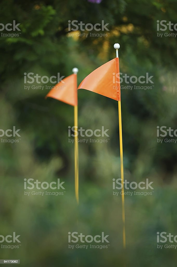 Golf Flags royalty-free stock photo