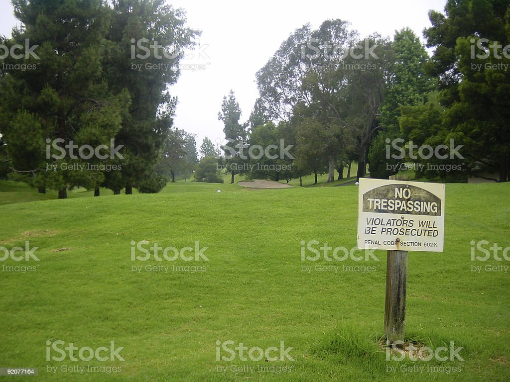 golf forbidden stock photo