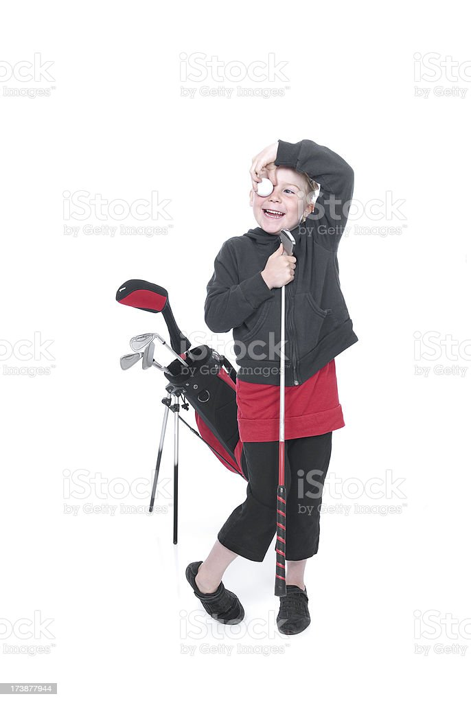 Golf Girl Series royalty-free stock photo