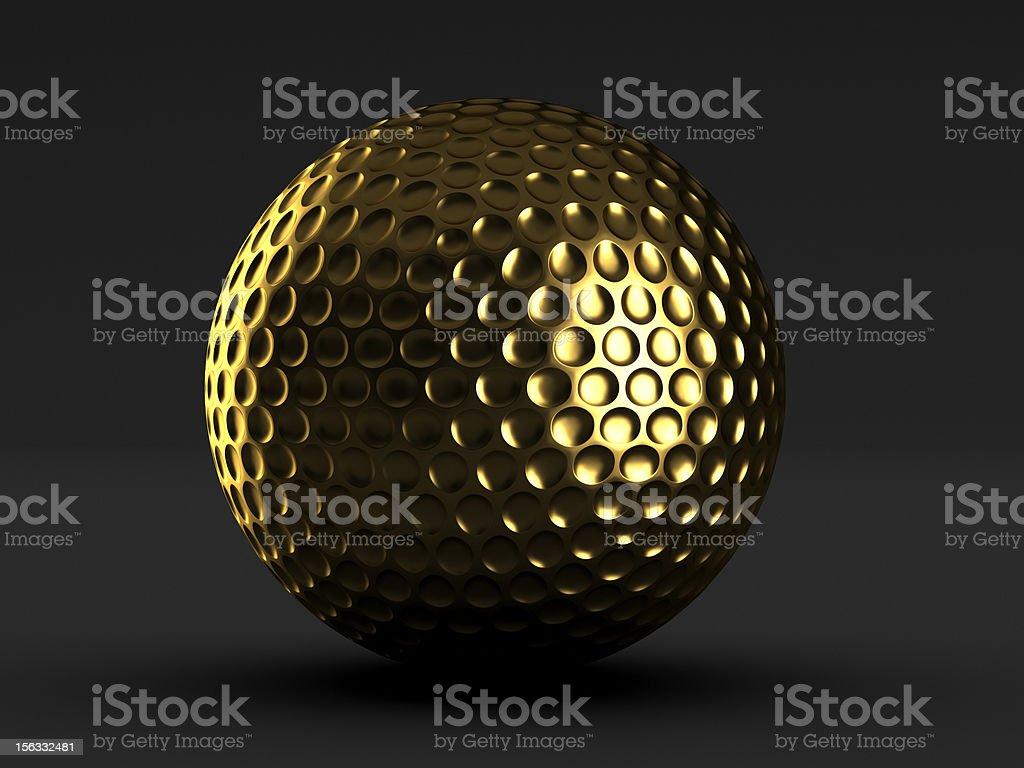 Golf gold ball royalty-free stock photo