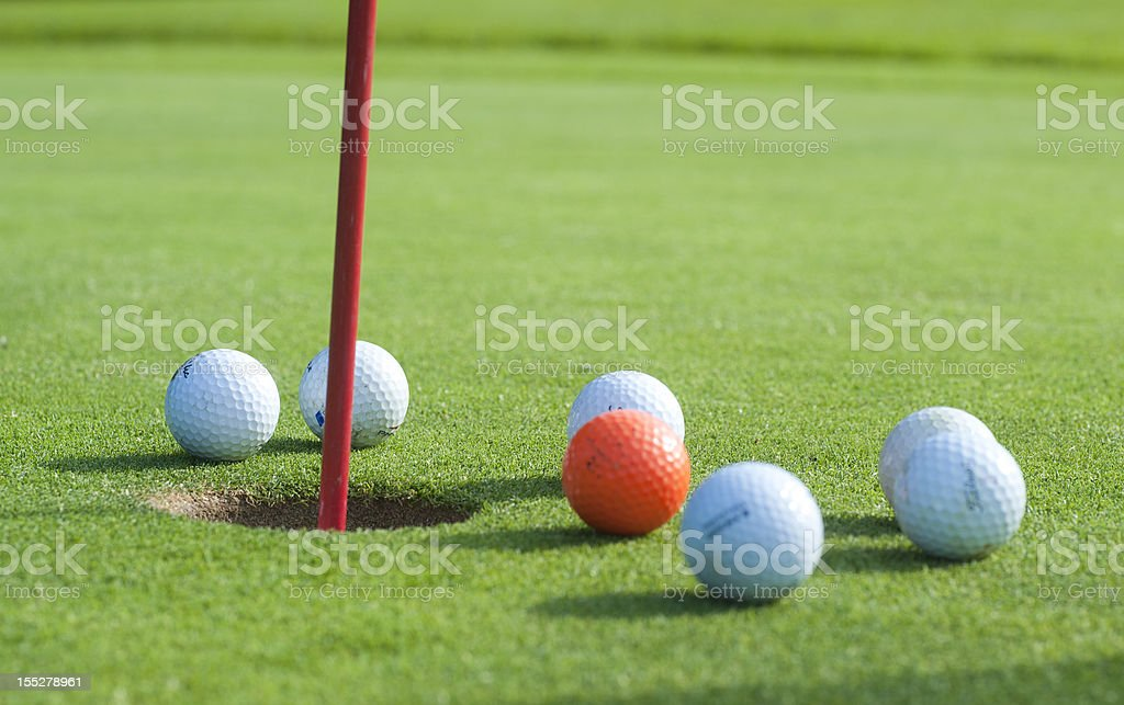 golf - green and flag royalty-free stock photo