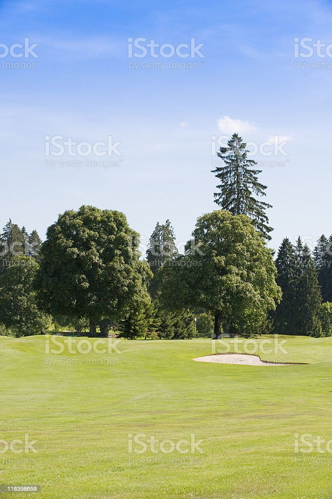 Golf Green stock photo