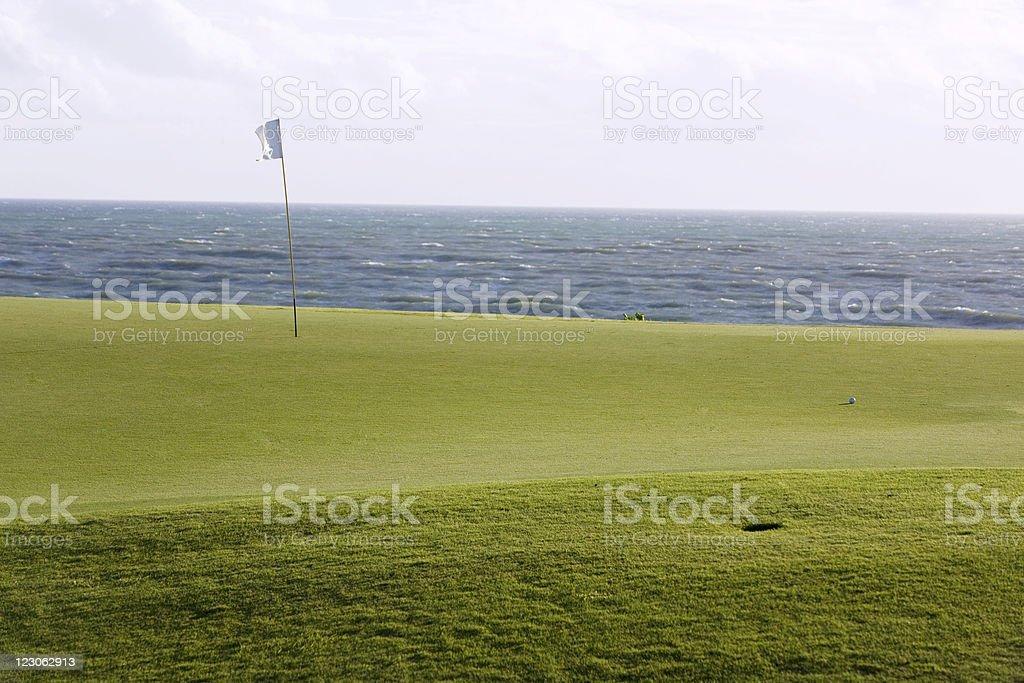 Golf green royalty-free stock photo