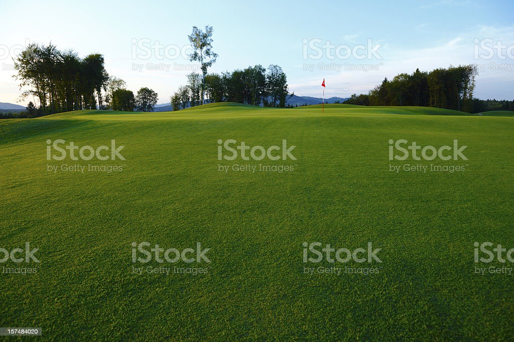 Golf green royalty-free stock photo