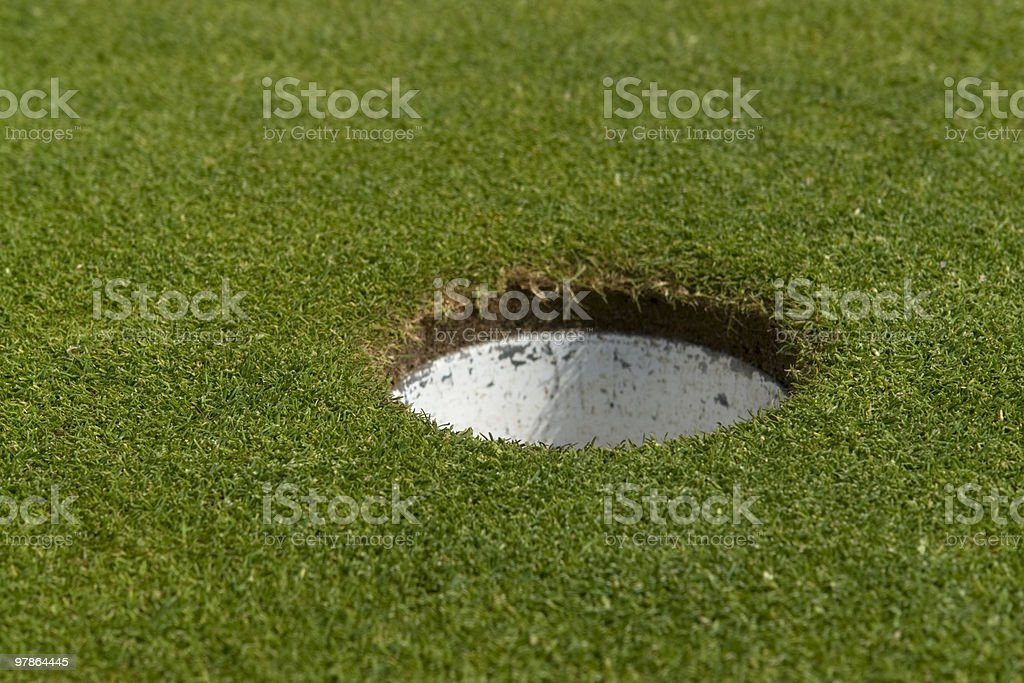 golf hole closeup royalty-free stock photo