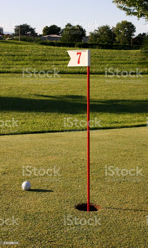 Golf hole number 7 royalty-free stock photo