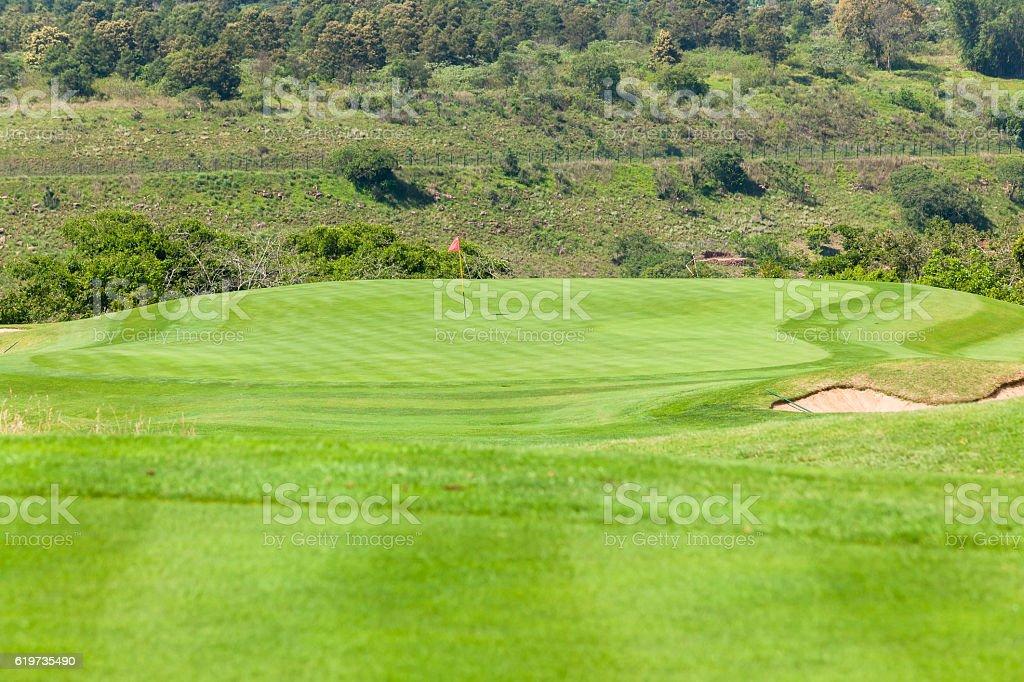 Golf Hole Par 3 stock photo