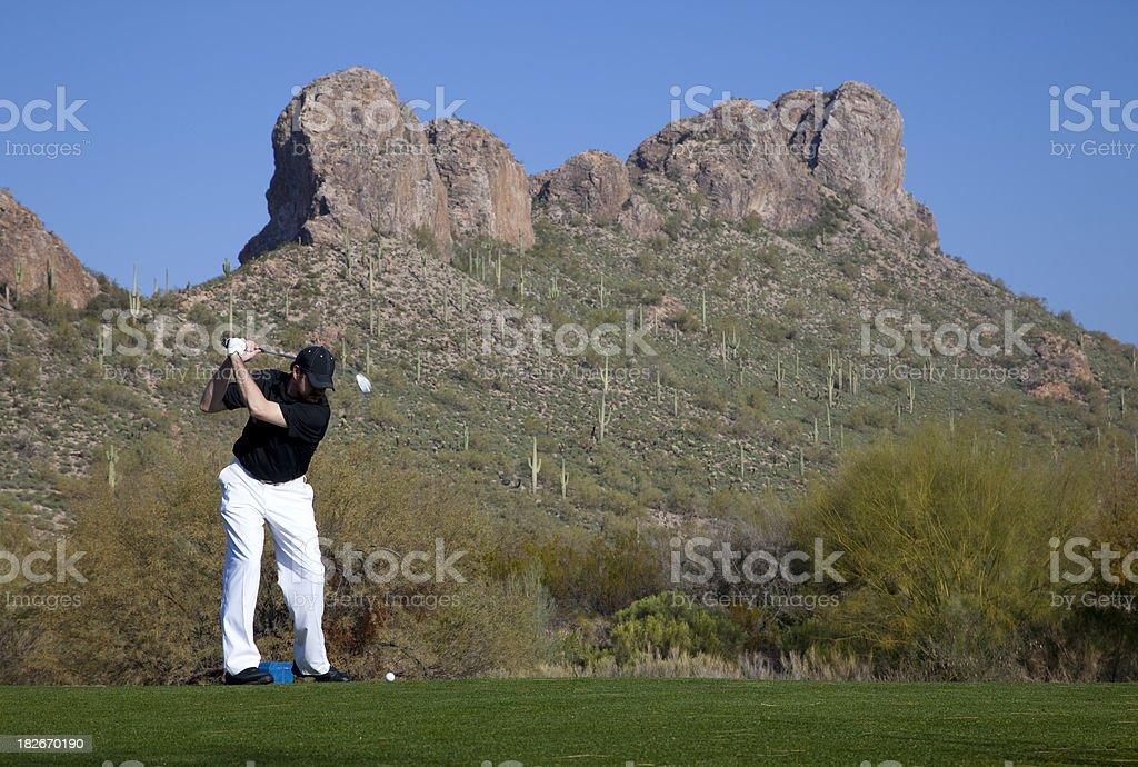 Golf in Arizona royalty-free stock photo