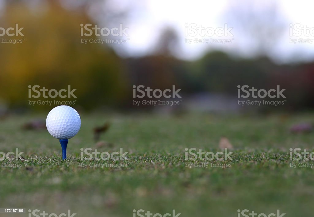 Golf in Autumn royalty-free stock photo