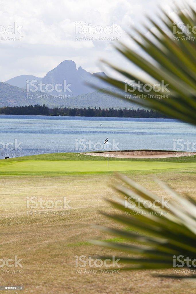 Golf in Mauritius stock photo