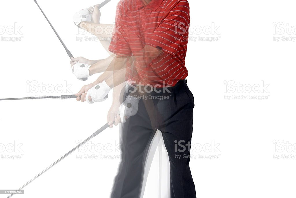 Golf in Motion royalty-free stock photo