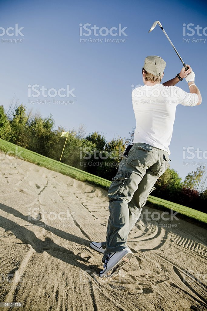 Golf in the Bunker royalty-free stock photo