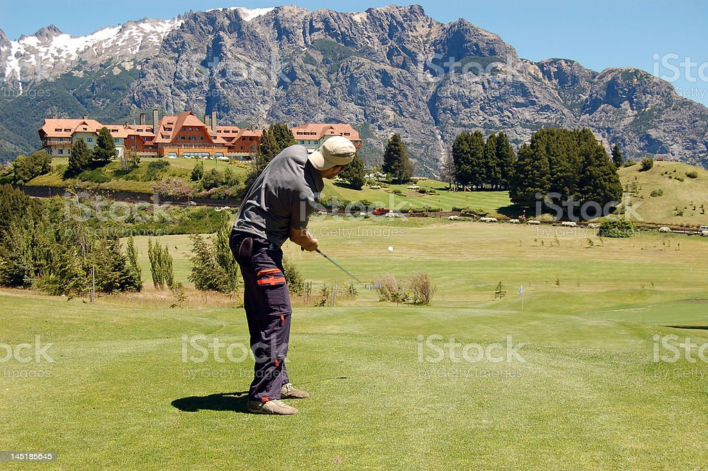 golf in the mountains royalty-free stock photo