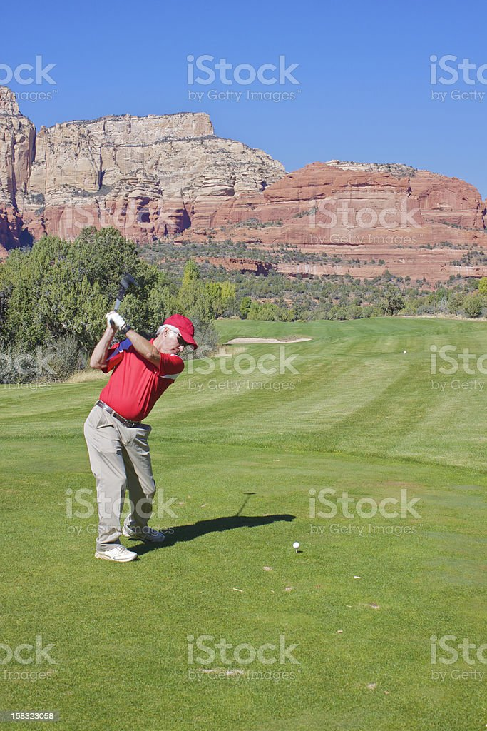 Golf in the Red Rocks royalty-free stock photo
