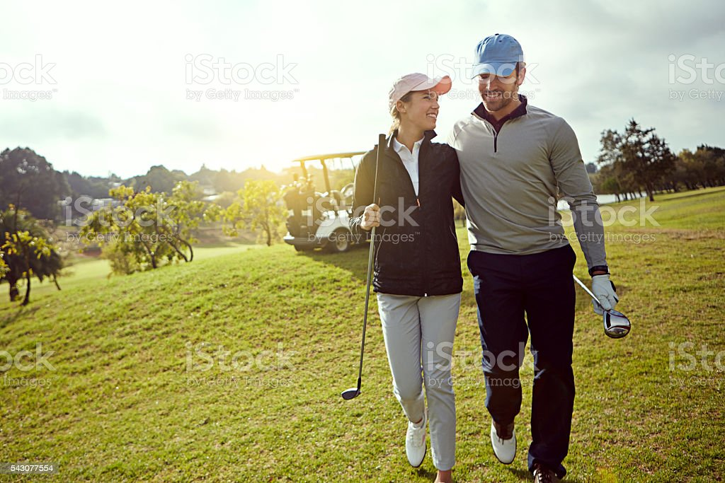 Golf is a great getaway stock photo