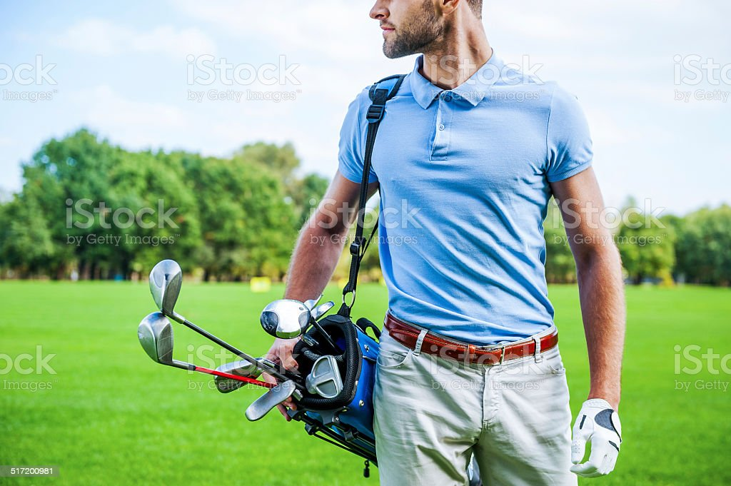Golf is a style of living. stock photo