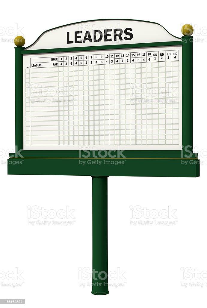 Golf Leader Board stock photo