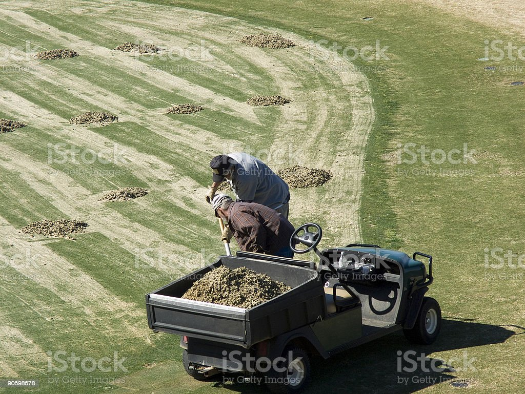 Golf Mainteance Workers stock photo