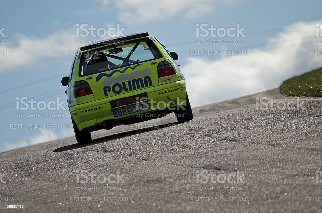 VW Golf MkIII race car royalty-free stock photo