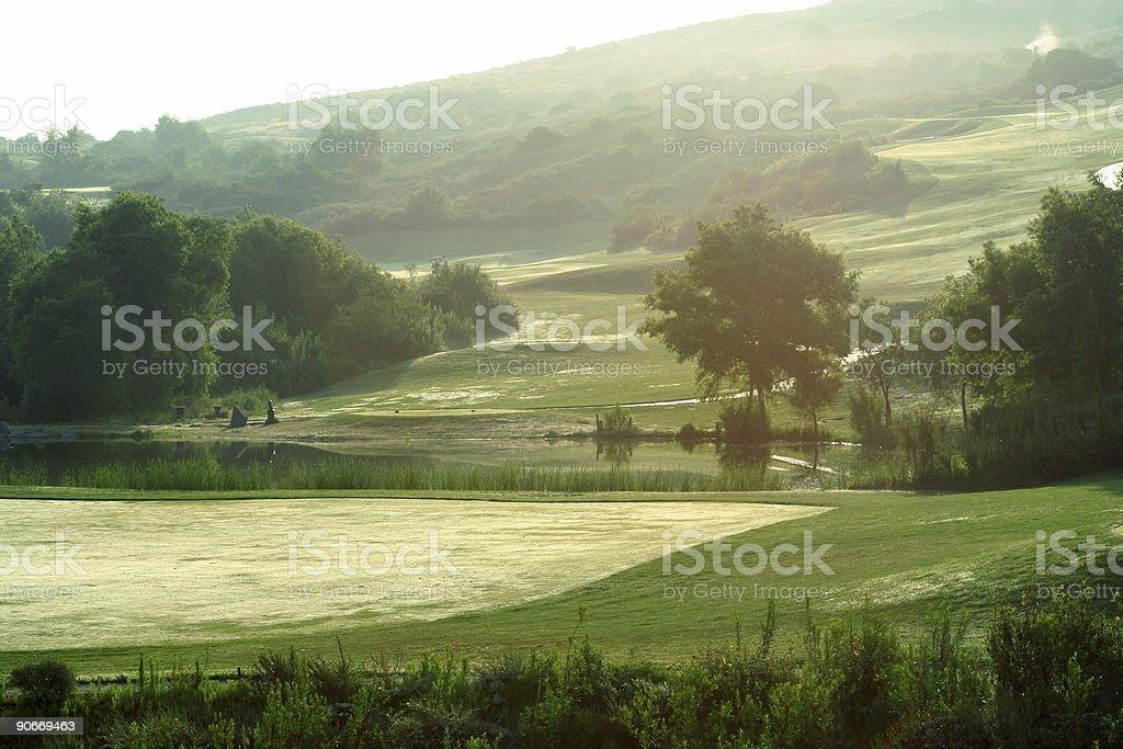 Golf- Morning Links stock photo