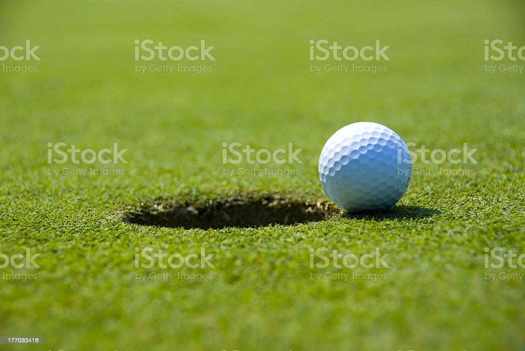 Golf on the Edge stock photo