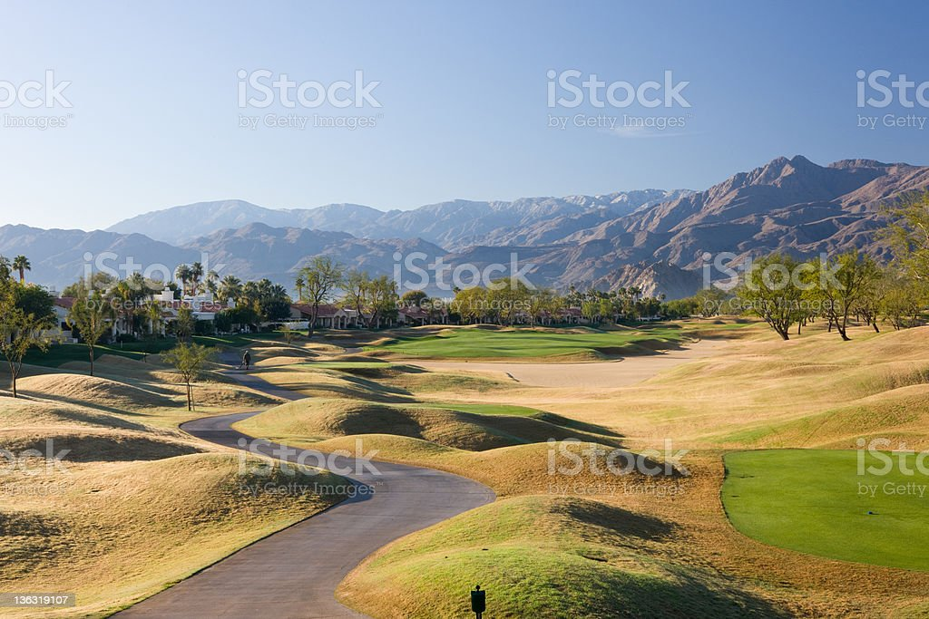 Golf Path At Stadium Course PGA West La Quinta California royalty-free stock photo